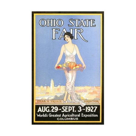 Ohio State Fair Poster, Columbus Print Wall - Halloween Usa Columbus Ohio