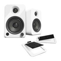 Kanto YU4 Powered Desktop Speakers (Gloss White) with S4 Desktop Stands (White)