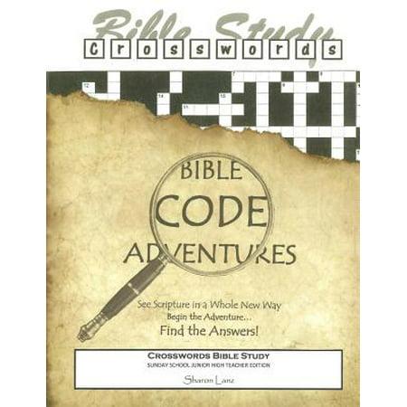 Crosswords Bible Study: Bible Code Adventures Sunday School Junior High Teacher Edition - Sunday School Teacher