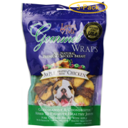 Loving Pets Gourmet Apple & Chicken Wraps 6 oz - Pack of 3