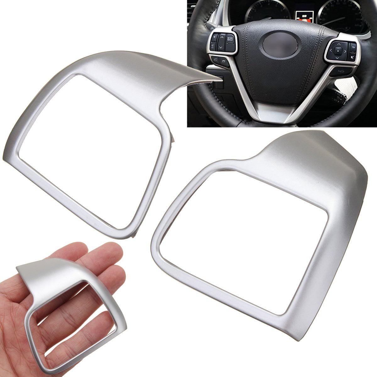 2x Chrome Steering Wheel Cover Molding Garnish chrome For 2014- 2017 Toyota Highlander