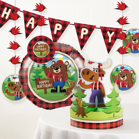 Lum-Bear Jack Birthday Party Decorations Kit - Union Jack Decorations