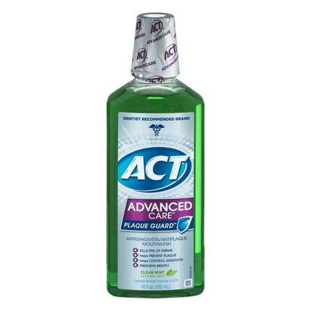 Act Advanced Care Plaque Guard Antigingivitis Antiplaque Mouthwash  18 0 Fl Oz