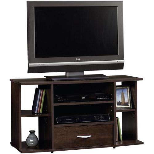 "Sauder Beginnings Panel TV Stand for TVs up to 42"", Cinnamon Cherry Finish"