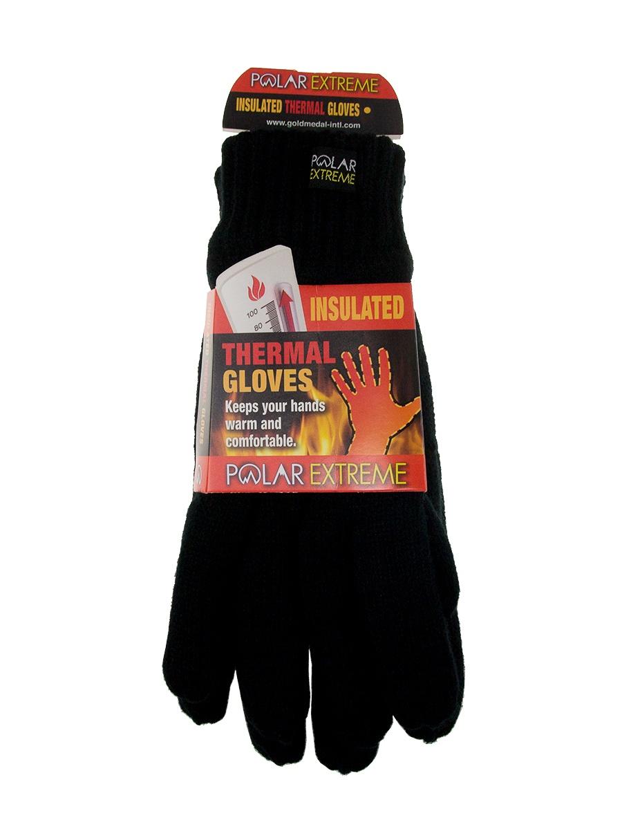 Polar Extreme Mens Heat Knit Gloves Winter Glove