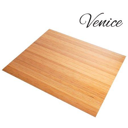 Venice Natural Bamboo Floor Roll Up Chairmat Floor Mat 42 X 48