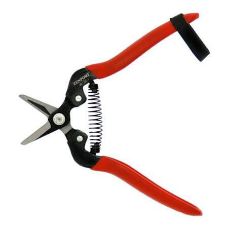 Zenport  H301 Harvest Shear, Short Straight Carbon Steel Blade