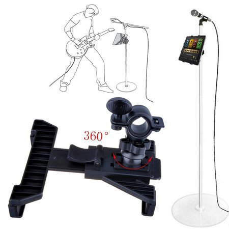 black multifunctional music microphone stand holder mount for 7 11