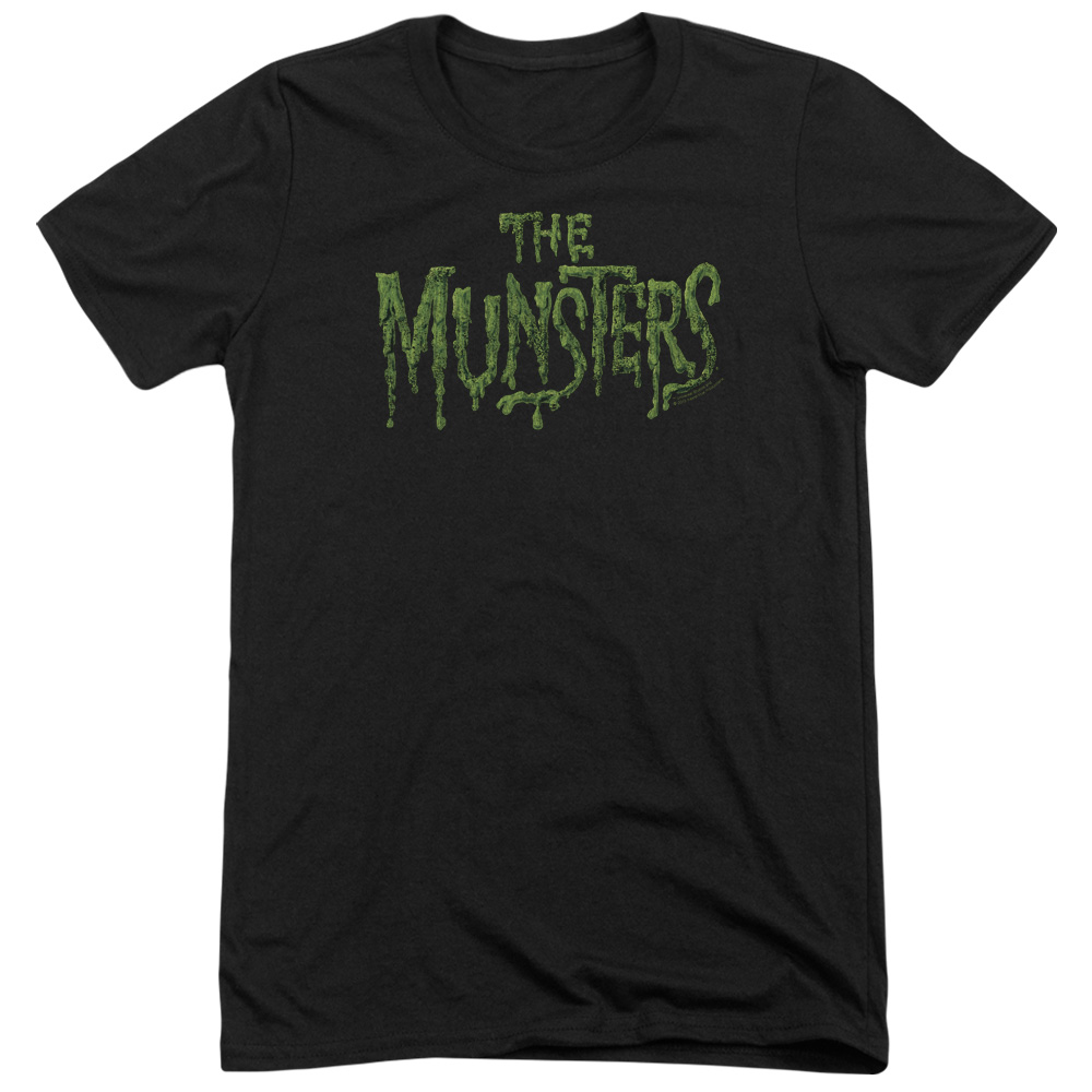 Munsters Distress Logo Mens Tri-Blend Short Sleeve Shirt
