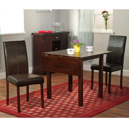 Target Marketing Systems Bettega 3 Piece Dining Table Set With Drop Leaf