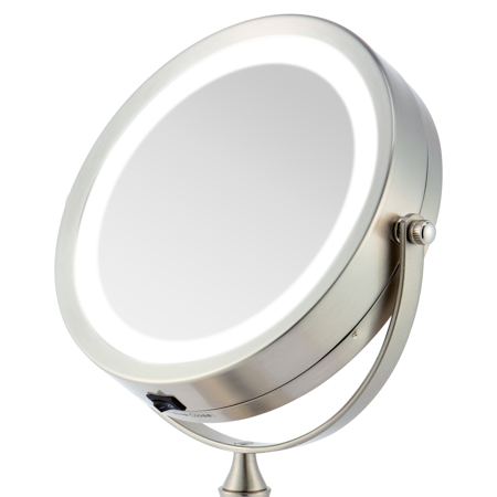 Battery Operated Vanity Mirror Lights : Ovente MDT70BR 7.0 inch Battery Operated LED Lighted Tabletop Vanity Makeup Mirror, 1x/8x ...