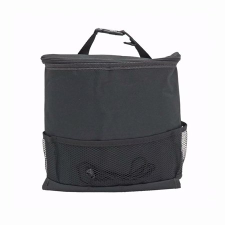 Car Seat Back Organizer, Auto Seat Multi-Pockets Travel Storage Bag, Storage Bag Cool Wrap Bottle Bag with Mesh Pockets, Black