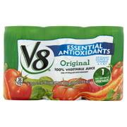 V8 Original Essential Antioxidants 100% Vegetable Juice 5.5oz 6 pack