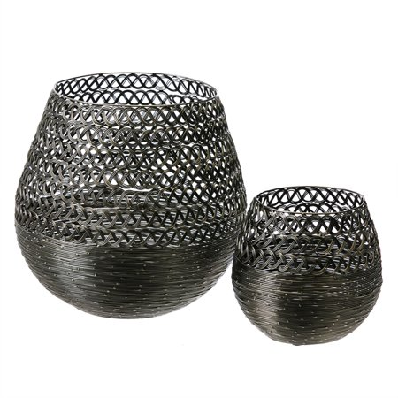 Evergreen Basket (Silver Basket, Set of 2)
