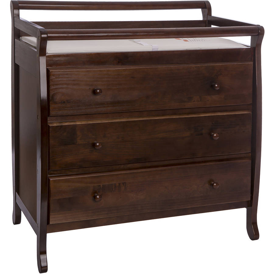 Dream On Me Liberty 3-Drawer Changing Table with Pad, Choose Your Finish