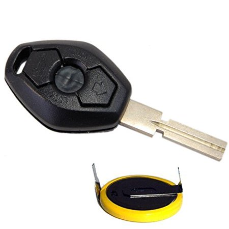 HQRP Transmitter and Battery for BMW 325i 325Ci 325xi 330i 330Ci 330xi 2001 2002 2003 2004 2005 01 02 03 04 05 Key-Fob Remote Shell Case Cover Smart Key Keyless (Bmw 330i 01 2001 Car)