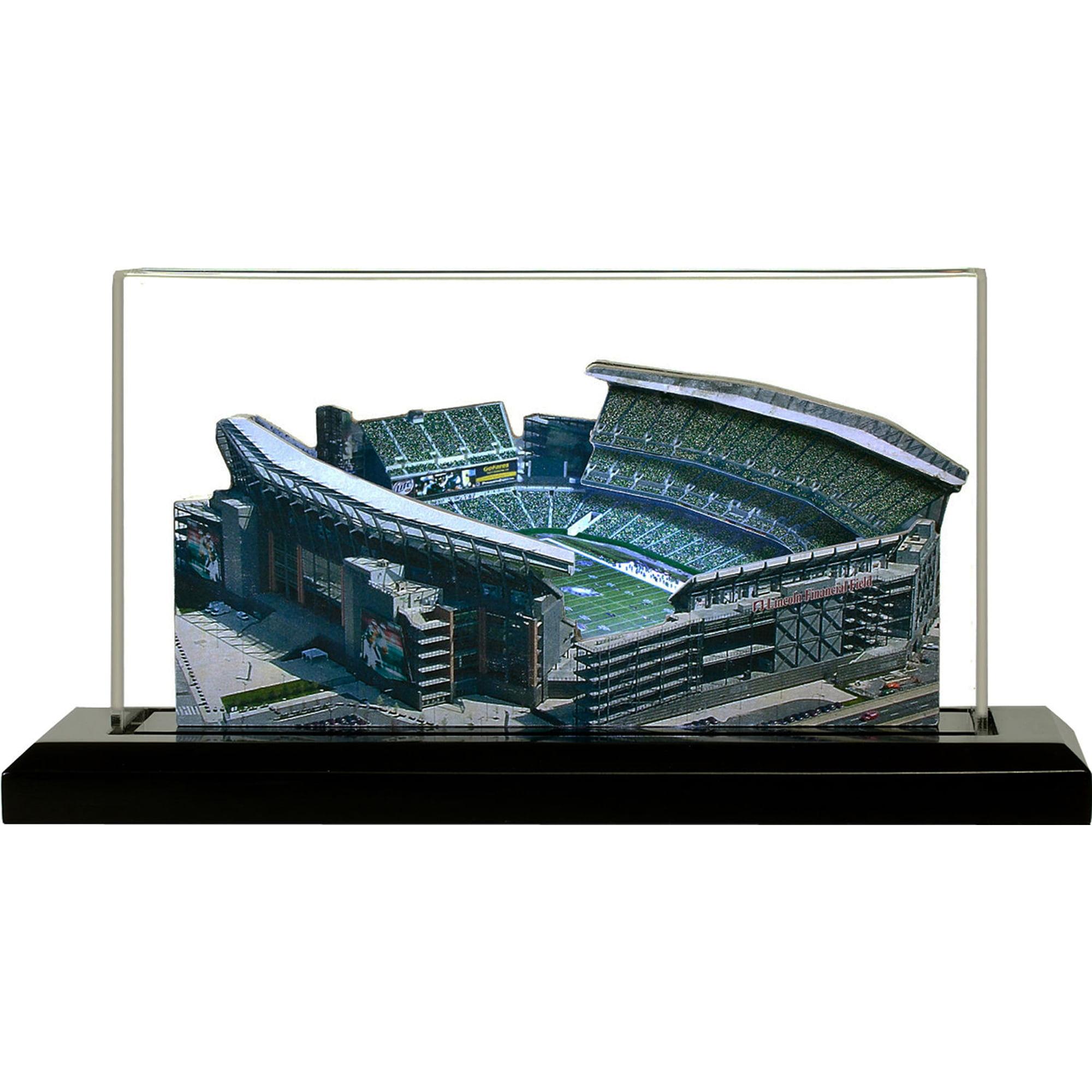"Philadelphia Eagles Lincoln Financial Field 19"" Replica Stadium with Case - No Size"