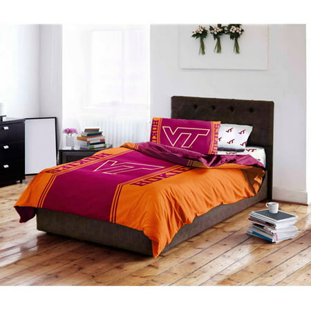 Virginia Tech Twin Comforter - NCAA Virginia Tech University Hokies Bed in a Bag Complete Bedding Set