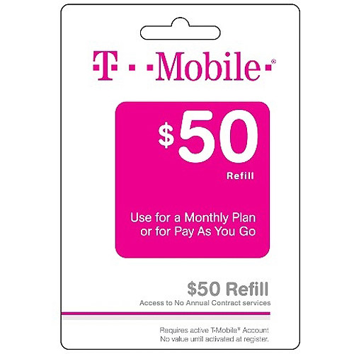 (Email Delivery) T-Mobile Monthly4G $50 Unlimited Talk, Unlimited Text, and Unlimited Web access (first 100 MB at up to 4G speeds)