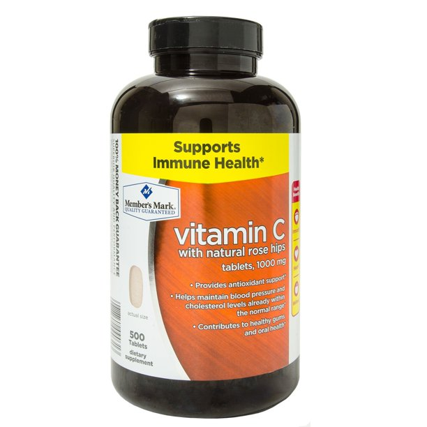 Member's mark 1000mg vitamin c dietary supplement tablets, 500 ct