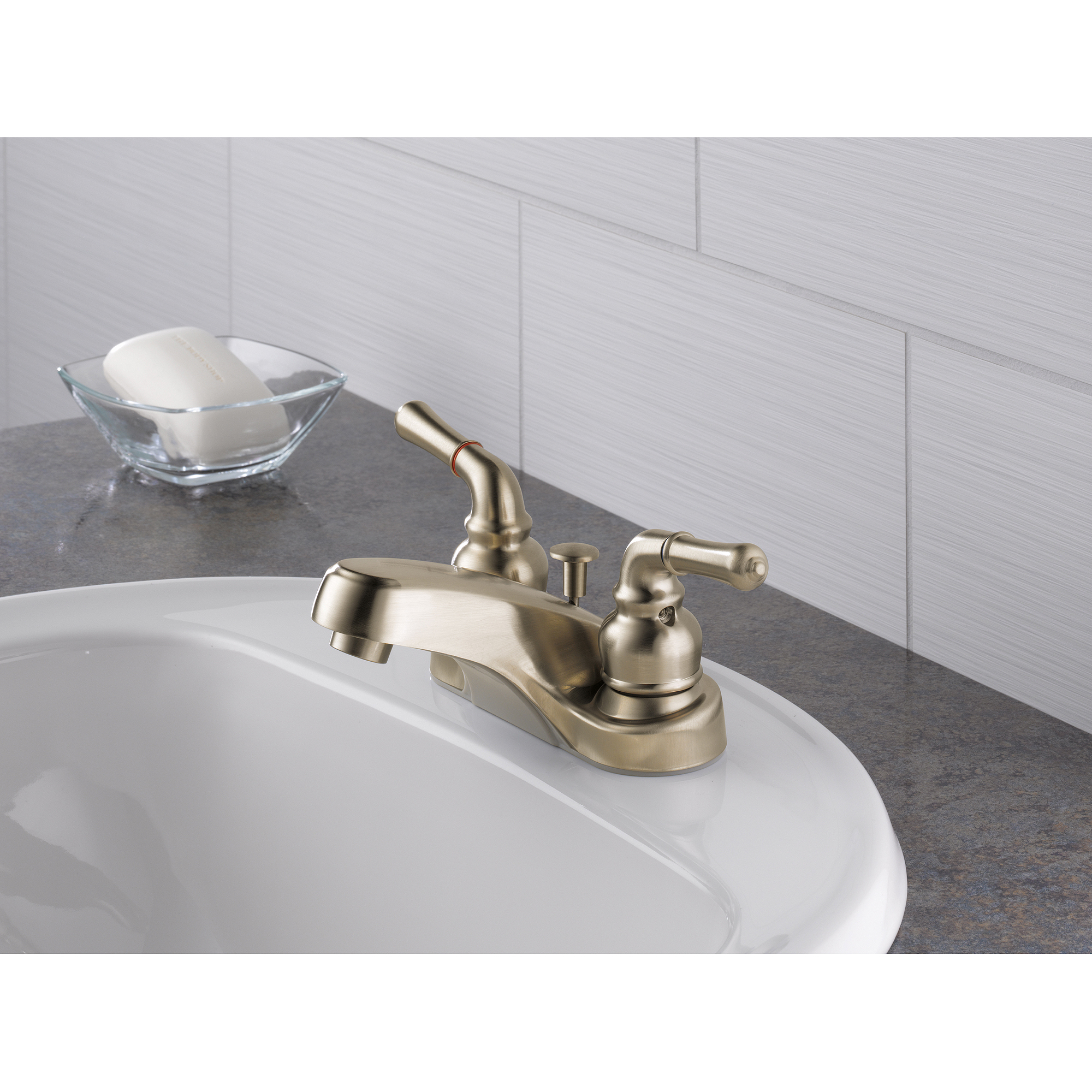 Bathroom Faucets At Walmart peerless brushed nickel 2 hndle bath faucet - walmart