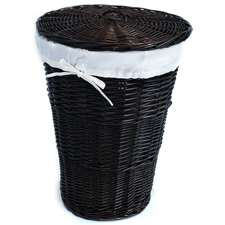 Burlington Baskets Large Wicker Laundry Hamper In Espresso