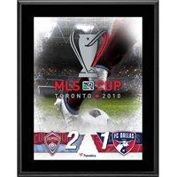 """Colorado Rapids vs. FC Dallas 2010 MLS Cup 10.5"""" x 13"""" Sublimated Plaque"""