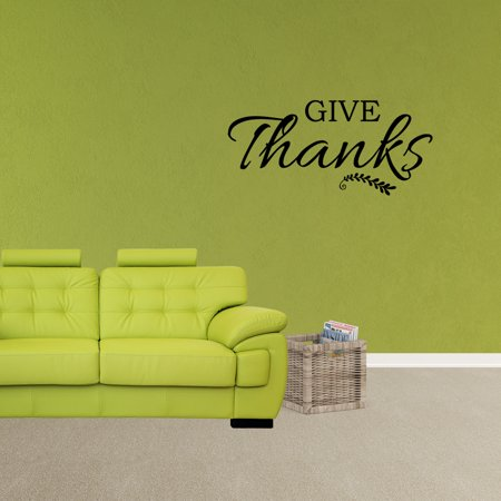 Give Thanks Wall Decal Vinyl Words Decoration Thanksgiving Sticker Thankful Quotes Farmhouse Art XJ638