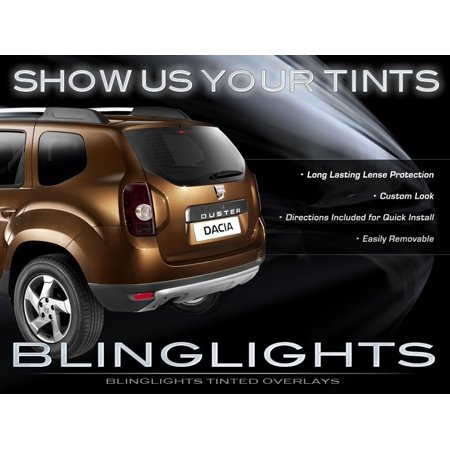 Tinted Overlays (Dacia Duster Tinted Tail Lamp Smoked Light Overlay Kit Film Protection)