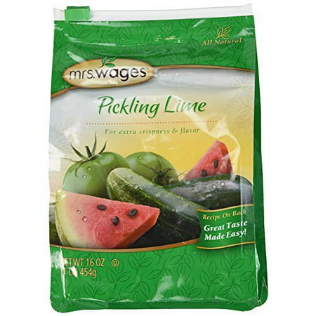 Pickling Lime - Mrs. Wages Pickling Lime Seasoning (2-Resealable Bags, 1 Pound each)