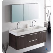 Fresca Senza Opulento 54'' Double Bathroom Vanity Set with Mirror