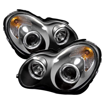 Sonar Halo Projector Headlights (Black) - 03- 07 Mercedes-Benz C230 Sedan  W203 without Stock HID