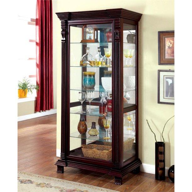 Furniture Of America Lisandro, Tall Curio Cabinet