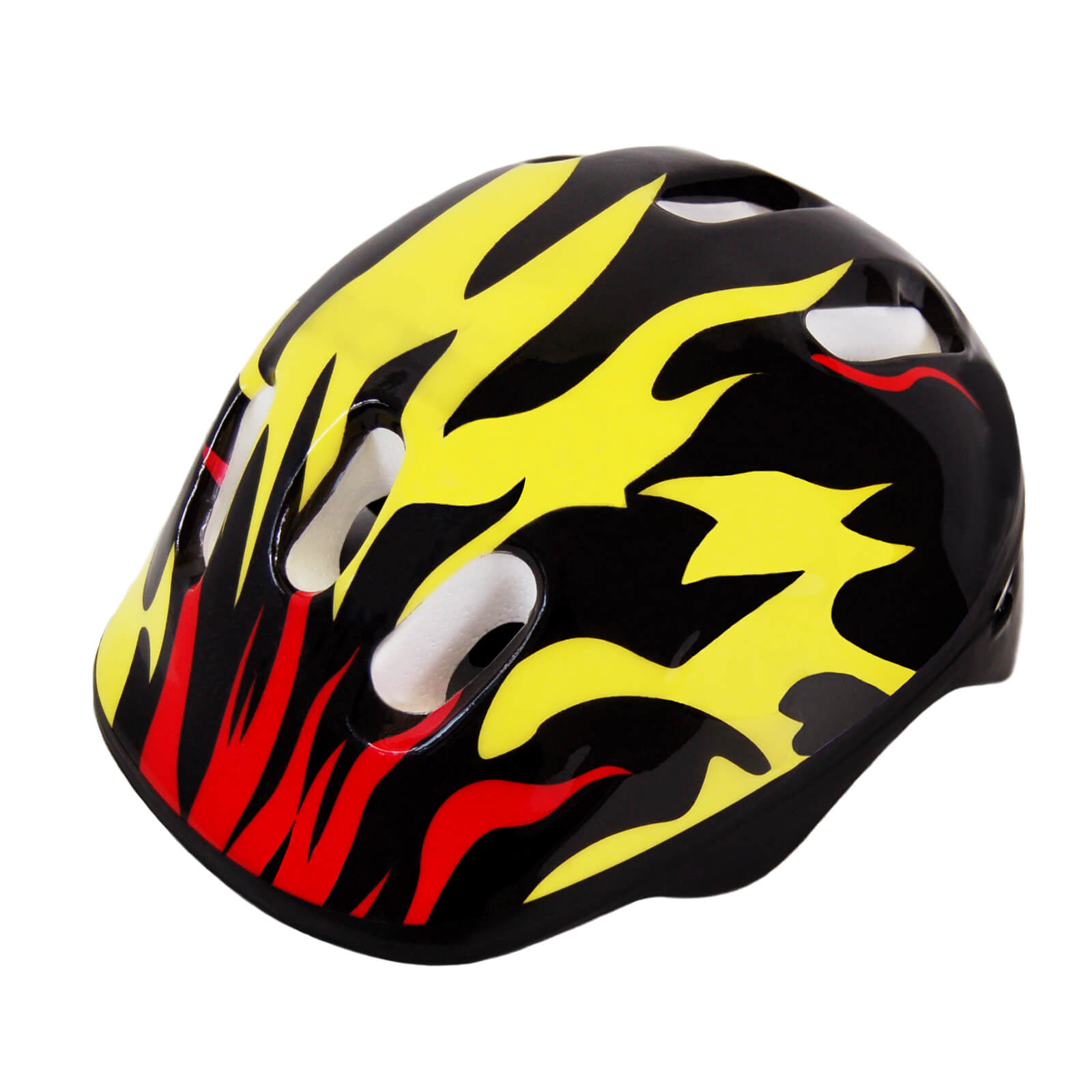 Scale Sports Adjustable Fitting Size M Kids Bike Protective Helmet, Flame Pattern