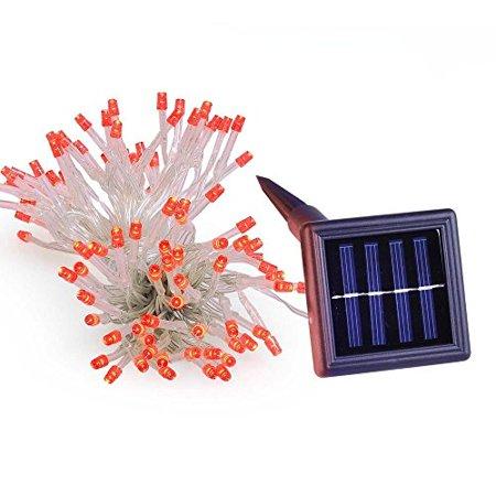 100Leds Waterproof Solar Window Outdoor Christmas String Light