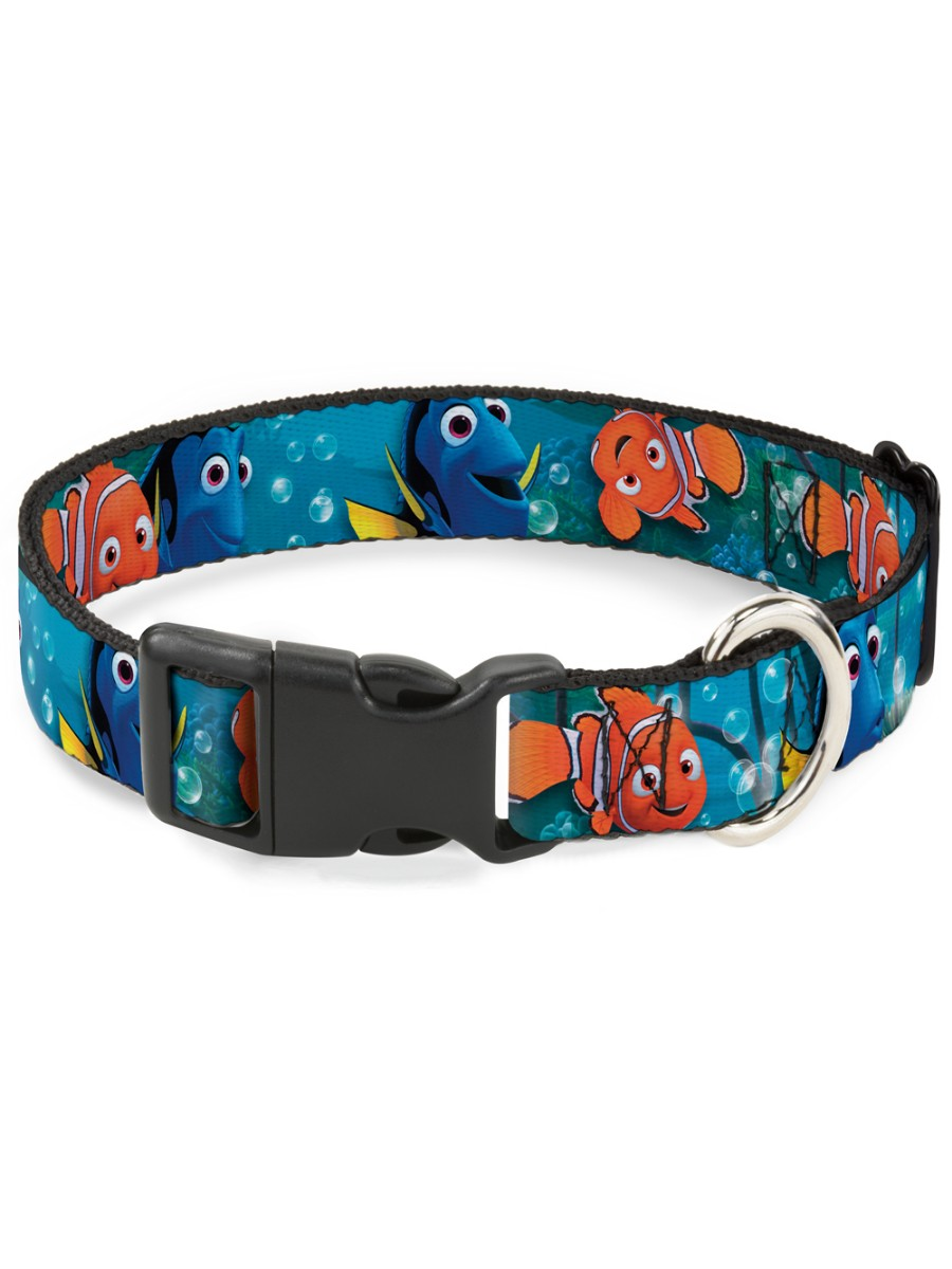 Buckle-Down Dog Collar Plastic Clip Dalmatians Running Paws Black Gray White Black Available in Adjustable Sizes for Small Medium Large Dogs