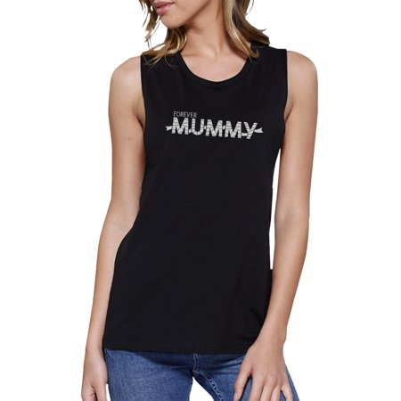 Ladies Mummy Halloween Costume (Forever Mummy Halloween Costume Womens Black Muscle Tank)