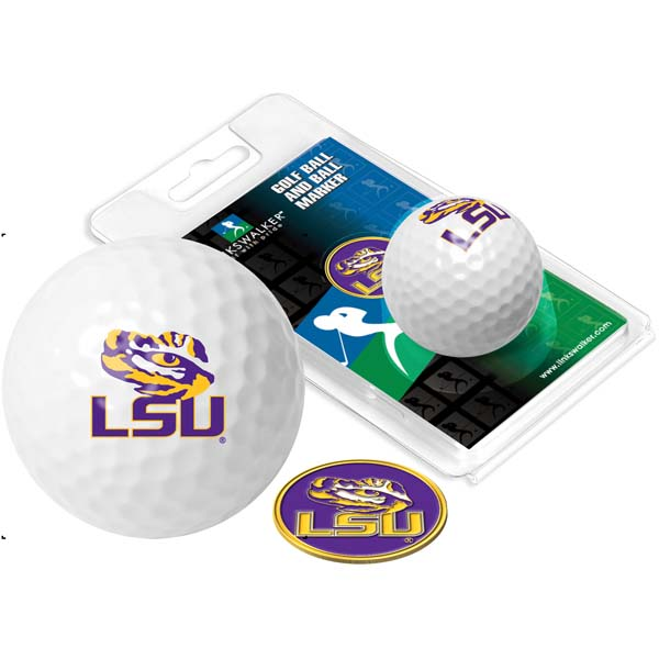 LSU Golf Ball One Pack with Marker