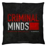 Criminal Minds Logo Throw Pillow White 26X26