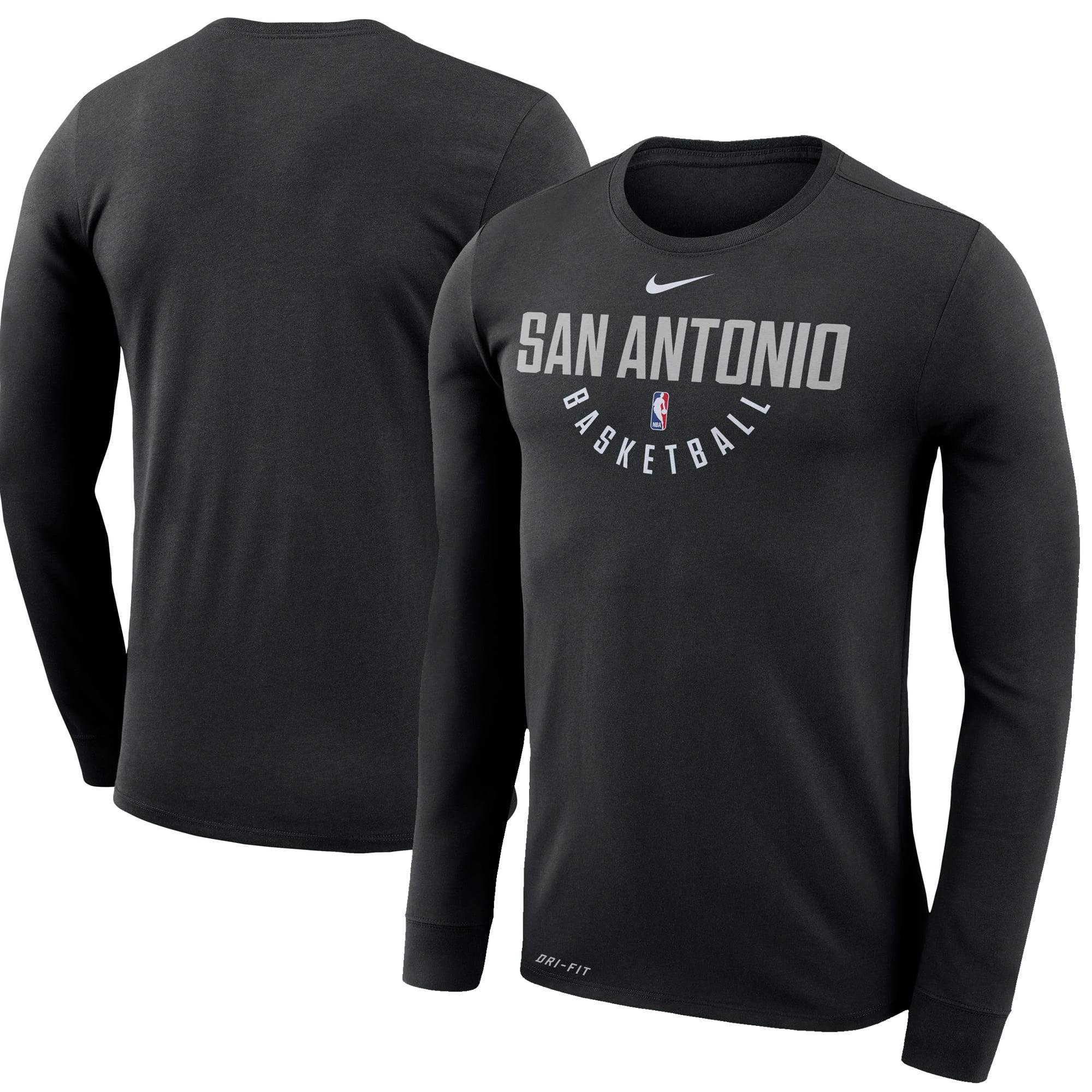 San Antonio Spurs Nike Practice Long Sleeve Performance T-Shirt - Black