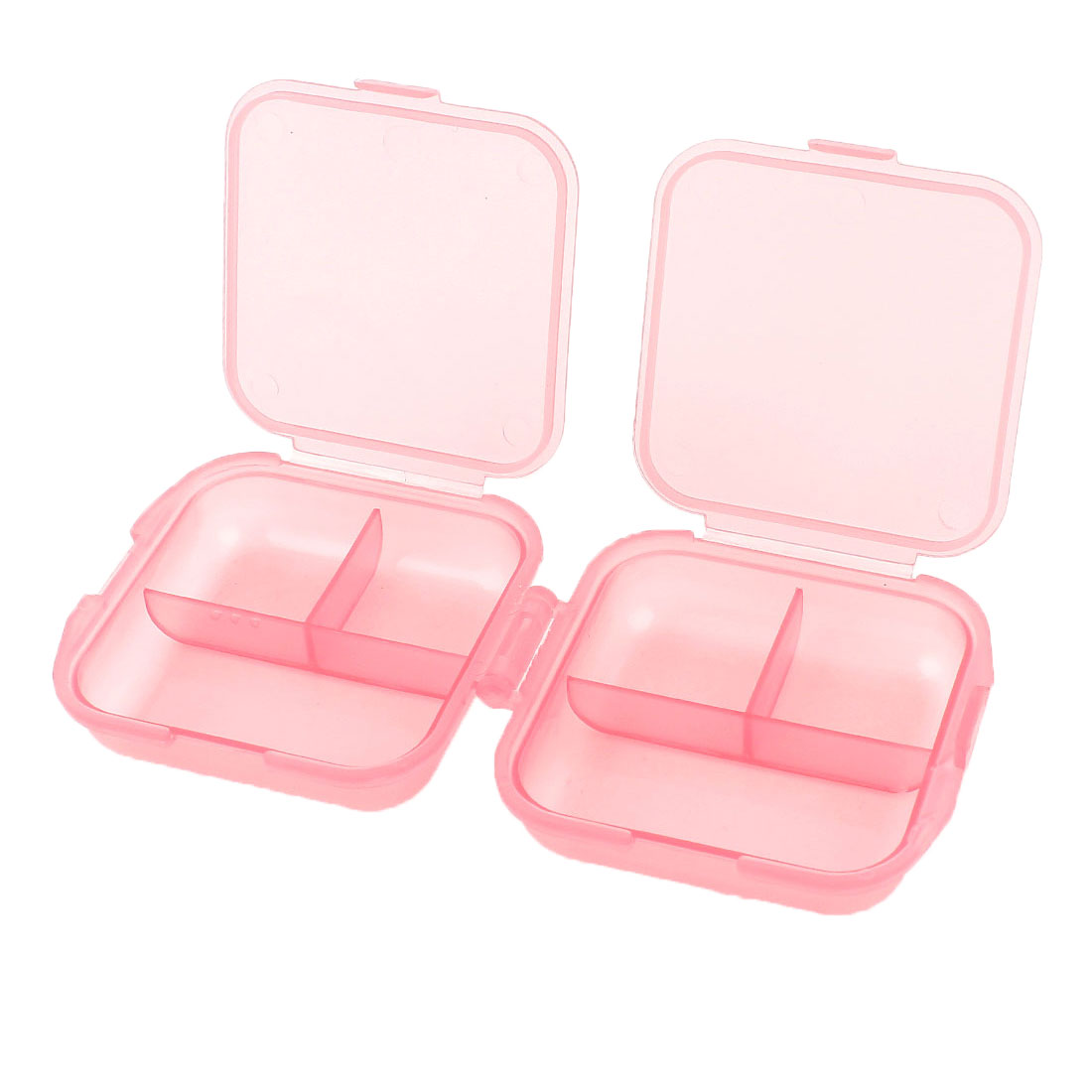 Unique Bargains Portable 6 Cells Pink Plastic Mini Pill Box Storage Case Holder