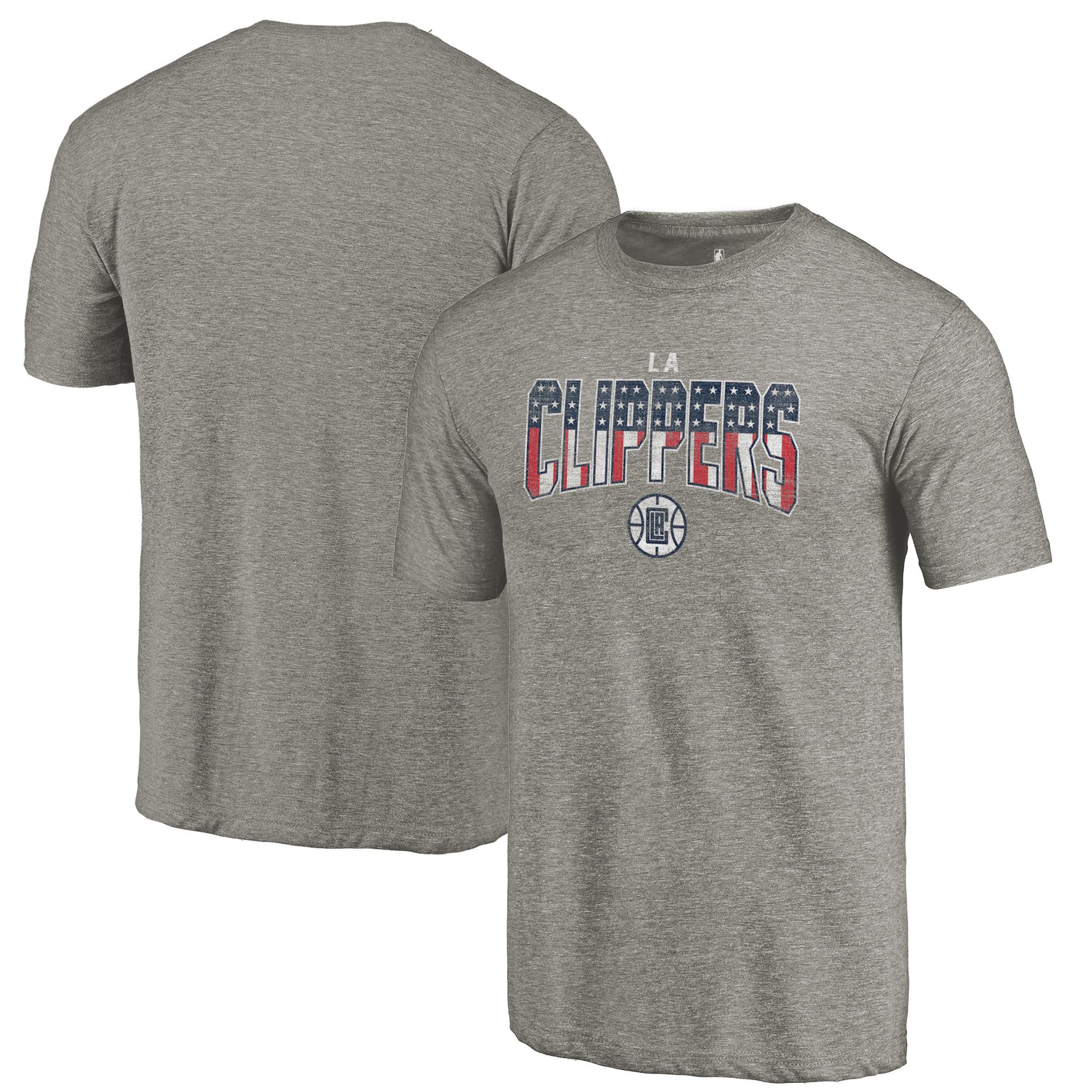 LA Clippers Fanatics Branded Freedom Tri-Blend T-Shirt - Gray