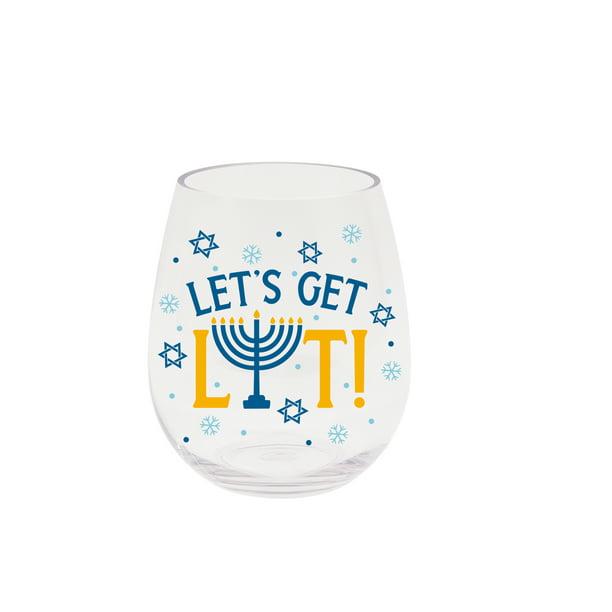 Lit Wine Glass