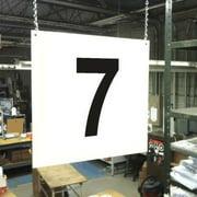 Hanging Aisle Sign, Stranco Inc, HPS-FS1212-7