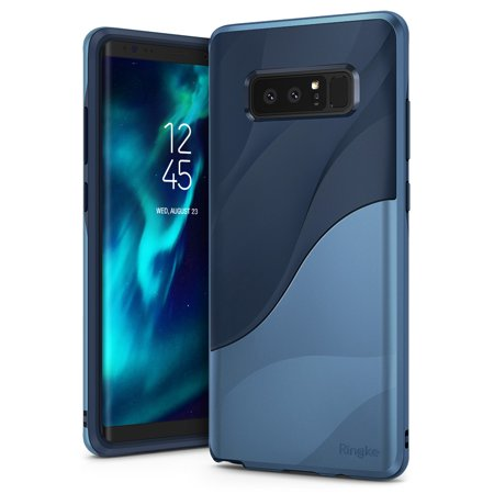 Samsung Galaxy Note 8 Phone Case Ringke [WAVE] [Coastal Blue] Dual Layer Heavy Duty Textured Shock Absorbent PC TPU Full-Body Drop Resistant Protection Ergonomic Design Cover - Coastal Blue