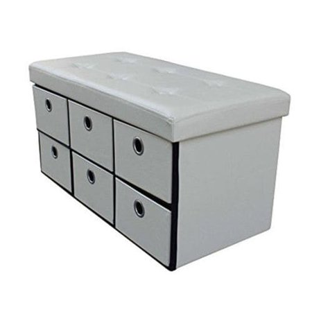 Excellent Sorbus Storage Bench Chest With Drawers Collapsible Folding Bench Ottoman With Cover Faux Leather Inzonedesignstudio Interior Chair Design Inzonedesignstudiocom