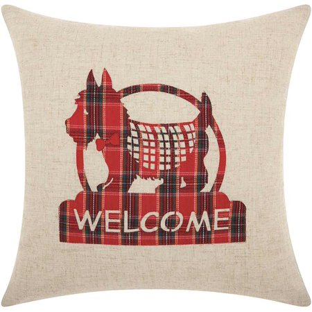 Nourison Home For The Holiday Welcome Scottie Throw Pillow, 17