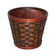 Cheung's FP-2970RD-07C Wooden 7'' Round Planter