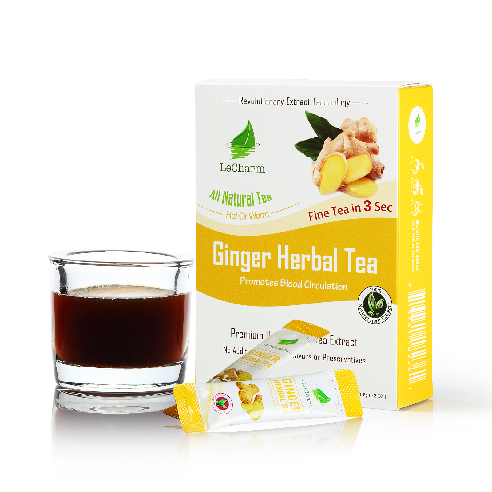 Ginger Herbal Black Tea Extract (10 Sachets)