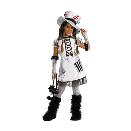 White Monster Bride Girls Child Halloween Costume, One Size, Medium (7-8)](Tim Burton's Corpse Bride Halloween Costume)